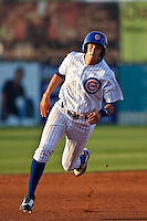 Ryan Flaherty (11) of the Daytona Cubs during a game vs. the Clearwater Threshers May 8 2010 at Jackie Robinson Ballpark in Daytona Beach, Florida. Daytona won the game against Clearwater by the score of 4-1.  Photo By Scott Jontes/Four Seam Images
