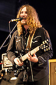 The Zutons - vocalist guitarist Dave McCabe - performing live on Day 2 at the UK's biggest free festival - Radio 1's Big Weekend held at Mote Park Maidstone Kent UK - 11th May 2008.  Photo credit: George Chin/IconicPix