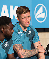 Alfie Mawson of Swansea City during the 2017/18 Pre Season Friendly match between Barnet and Swansea City at The Hive, London, England on 12 July 2017. Photo by Andy Rowland.