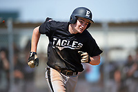 Edgewood Eagles Paul Cappetta (33) during the second game of a doubleheader against the Plymouth State Panthers on April 17, 2016 at Lee County Player Development Complex in Fort Myers, Florida.  Plymouth State defeated Edgewood 16-3.  (Mike Janes/Four Seam Images)