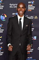 Sir Mo Farah arriving for the BT Sport Industry Awards 2018 at the Battersea Evolution, London, UK. <br /> 26 April  2018<br /> Picture: Steve Vas/Featureflash/SilverHub 0208 004 5359 sales@silverhubmedia.com