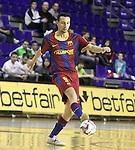 EL FC Barcelona Alusport es clasifica per la final de la Copa del Rei despres de guanyar el partit de tornada de la semifinal 6-1 contra el Azkar Lugo. A la foto Carlos Muñoz