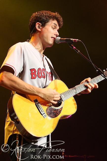 John Mayer performs at Comcast Center, Mansfield, Massachusetts, July 12, 2008
