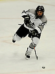 1 December 2007: Providence College Friars' defenceman Joe Lavin, a Freshman from Shrewsbury, MA, in action against the University of Vermont Catamounts at Gutterson Fieldhouse in Burlington, Vermont. The Friars defeated the Catamounts 4-0 in front of a capacity crowd of 4003, for the 64th consecutive sell-out at Gutterson...Mandatory Photo Credit: Ed Wolfstein Photo