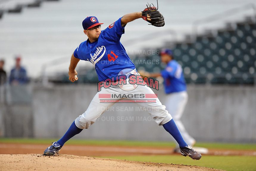 The Chattanooga  Lookouts pitcher Stephen Fife #41 delivers a pitch during  game one of the Southern League Northern Division Championship Series between the Chattanooga Lookouts and the Tennessee Smokies at Smokies Park on September 8, 2011 in Kodak, Tennessee.  The Smokies won the game 9-6.  (Tony Farlow/Four Seam Images)