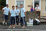 Aldershot Town 0 Torquay United 3, 15/08/2007. Plainmoor, Football Conference. Torquay's first game in the Blue Square Premier. A 330 mile round trip to Aldershot Town's Recreation Ground. Players await the team bus outside the Gulls Lodge, the Gulls Lodge is the accommodation for younger players and loanees.