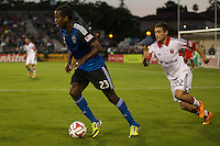 Santa Clara, California - July 11, 2014: San Jose Earthquakes face off against D.C. United at Buck Shaw Stadium on Friday.
