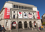 Teatro Real opera house theatre building in Plaza de Isabel II, Madrid, Spain