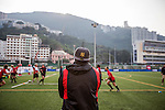 Players in action during Valley RFC vs Hong Kong Scottish in the HKRFU Premiership on December 13th, 2014. Photo by Mike Pickles / Power Sport Images