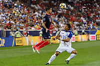 Harrison, NJ - Friday July 07, 2017: Christian Gamboa, Carlos Sánchez during a 2017 CONCACAF Gold Cup Group A match between the men's national teams of Honduras (HON) vs Costa Rica (CRC) at Red Bull Arena.