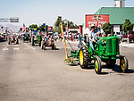 Old tractors, Independence Day celebration on Winnemucca Boulevard for July 4th during the Silver State International Rodeo, Winnemucca, Nev.