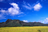 Sleeping giant sleeps on a beautiful day on the island of Kauai