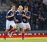 Steven Naismith celebrates his goal for Scotland