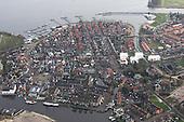 Luchtfoto van Grou (Grouw), gemeente Leeuwarden
