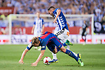 Deportivo Alaves's midfielder Victor Camarasa and FC Barcelona's midfielder Ivan Rakitic during Copa del Rey (King's Cup) Final between Deportivo Alaves and FC Barcelona at Vicente Calderon Stadium in Madrid, May 27, 2017. Spain.<br /> (ALTERPHOTOS/BorjaB.Hojas)