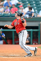 Birmingham Barons first baseman Dan Black #22 during a game against the Chattanooga Lookouts on April 17, 2013 at AT&T Field in Chattanooga, Tennessee.  Chattanooga defeated Birmingham 5-4.  (Mike Janes/Four Seam Images)