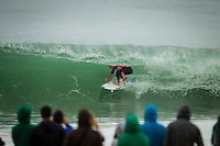 LA GRAVIERE, Hossegor/France (Friday, September 28, 2012) Mick Fanning (AUS). - The opening nine Round 1 heats of the Quiksilver Pro France were completed today in clean three-to-five (1 - 1.5 metre) waves at the primary site of La Graviere...Event No. 7 of 10 on the 2012 ASP World Championship Tour season, the Quiksilver Pro France took advantage of solid barrels on offer this morning before calling competition off this afternoon as the swell subsided..Mick Fanning (AUS), 31, two-time ASP World Champion (2007, 2009) and current ASP WCT No. 1, took down an in-form Wiggolly Dantas (BRA), 22, and Travis Logie (ZAF), 33, in their Round 1 match-up, utilising his extensive tibe-riding abilities.. Photo: joliphotos.com