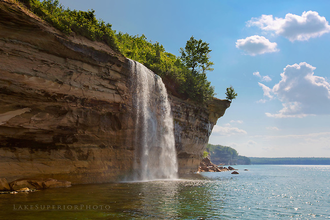 Spray Falls, Pictured Rocks, summer