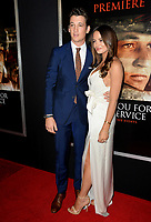 Miles Teller &amp; Keleigh Sperry at the premiere for &quot;Thank You For Your Service&quot; at the Regal LA Live Theatre. Los Angeles, USA 23 October  2017<br /> Picture: Paul Smith/Featureflash/SilverHub 0208 004 5359 sales@silverhubmedia.com