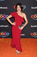 LOS ANGELES, CA - NOVEMBER 08: Actor Alanna Ubach arrives at the premiere of Disney Pixar's 'Coco' at El Capitan Theatre on November 8, 2017 in Los Angeles, California.<br /> CAP/ROT/TM<br /> &copy;TM/ROT/Capital Pictures