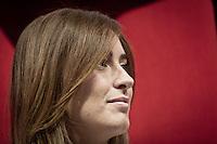 Maria Elena Boschi Ministro per le Riforme costituzionali e per i Rapporti con il Parlamento del Governo Renzi, presente in conferenza a Pescara 31 Maggio 2014. photo credit Adamo Di Loreto/BuenaVista*photo
