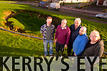 Storm water attenuation roof collapse in  Cahereen Heights Estate Castleisland on Saturday Morning Pictured Concerned Residents Jerry Brook, The Meadows, Tom McCarthy Cahereen Heights, Juilette Brook, Cahereen Heights, with Charlie Farrelly,and  Councillor Bobby O'Connor
