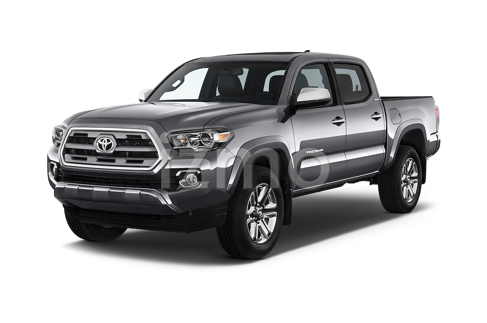 2016 Toyota Tacoma Limited 4 Door Pickup Angular Front stock photos of front three quarter view