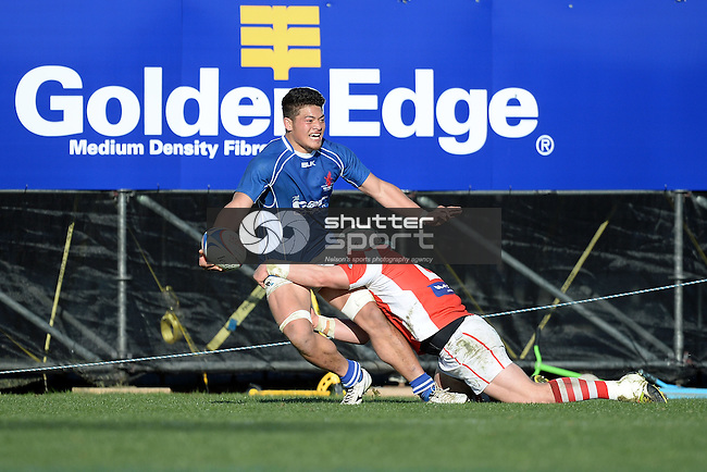NELSON, NEW ZEALAND - 5 SEPTEMBER: Tasman Griffins v Marlborough Red Devils for the Seddon Shield at Trafalgar Park on September 5 2015 in Nelson, New Zealand. (Photo by Barry Whitnall/Shuttersport Limited)