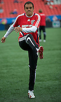 16 May 09: Chicago Fire midfielder Cuauhtemoc Blanco #10 warms up during action at BMO Field in a game between the Chicago Fire and Toronto FC..Chicago Fire won 2-0..