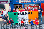 B-B-Q: The North Kerry Arsenal supporters club pictured at the Saddle Bar, Listowel at their annual Bar-B Que prior to the Arsenal V Everton game on Sunday last.