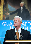 Washington, DC - July 14, 2009 -- United States Representative George Miller (Democrat of California), Chairman of the U.S. House Committee on Education and Labor, makes remarks as he and fellow Democratic members of the U.S. House of Representatives unveil the America's Affordable Health Choice Act of 2009 during a press conference in the Rayburn Room of the U.S. Capitol on Tuesday, July 14, 2009..Credit: Ron Sachs / CNP