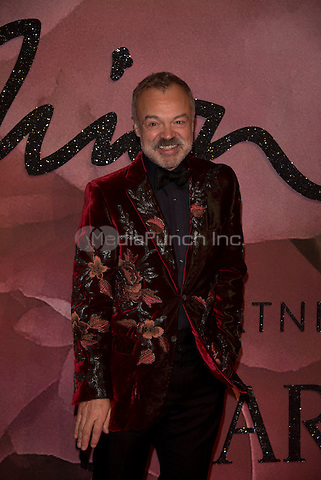 Graham Norton<br /> The Fashion Awards 2016 , arrivals at the Royal Albert Hall, London, England on December 05 2016.<br /> CAP/PL<br /> ©Phil Loftus/Capital Pictures /MediaPunch ***NORTH AND SOUTH AMERICAS ONLY***