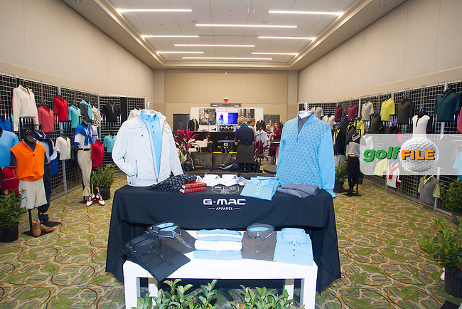 G-MAC  GRAEME MCDOWELL'S clothng range during the 2016 PGA Merchandise Show, from the Orange County Convention centre, Orlando, Florida. 26/1/16<br /> Picture: Mark Davison | Golffile<br /> <br /> <br /> All photos usage must carry mandatory copyright credit (&copy; Golffile | Mark Davison)