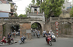 Hanoi-Vietnam, Ha Noi - Viet Nam - 21 July 2005---Two-wheel traffic at the Old East Gate into the Old Quarter ---tourism, traffic, transport---Photo: Horst Wagner/eup-images