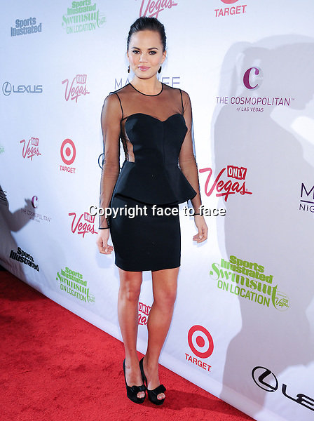 Chrissy Teigen at the Sports Illustrated Swimsuit Models on Location at Marquee Nightclub at the Cosmopolitan on February 13, 2013 in Las Vegas, Nevada...Credit: MediaPunch/face to face..- Germany, Austria, Switzerland, Eastern Europe, Australia, UK, USA, Taiwan, Singapore, China, Malaysia and Thailand rights only -