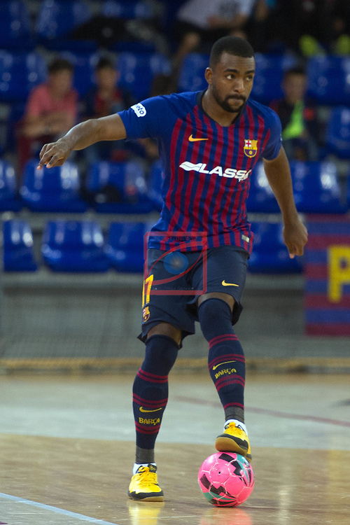 League LNFS 2018/2019 - Game 29.<br /> FC Barcelona Lassa vs Viña Albali Valdepeñas: 5-1.<br /> Arthur Guilherme.
