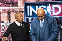 LAS VEGAS, NV - JANUARY 11: Kenny Smith and Charles Barkley pictured during a special live NBA On TNT Telecast at CES 2018 in Las Vegas, Nevada on January 11, 2018. Credit: Damairs Carter/MediaPunch