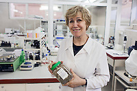 Udelnaya, Russia, 05/10/2012..Svetlana Kryukova,  head of cosmetic laboratory at the International Medical Leech Centre, the largest leech farm in the world.