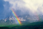 Rainbow over the Sneffels Range, San Juan Mountains, Ridgeway, Colorado.