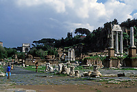 Italy: Rome--Roman Forum, looking towards Palatine Hill.