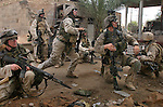 The Marines of Kilo Company 3rd Battalion 1st Marines fight through their piece of Fallujah during the Nov. 2004 assault on the city.<br />