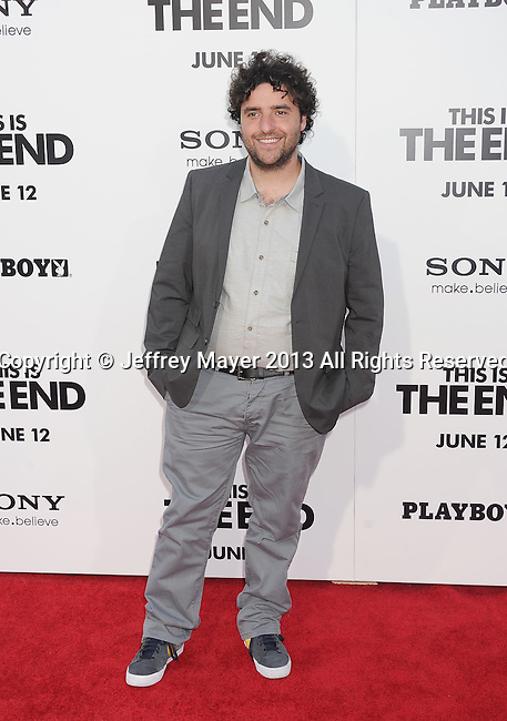 WESTWOOD, CA- JUNE 03: Actor David Krumholtz arrives at the 'This Is The End' - Los Angeles Premiere at Regency Village Theatre on June 3, 2013 in Westwood, California.