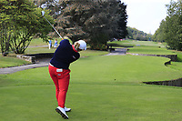 Ariya Jutanugarn (THA) tees off the 7th tee during Friday's Round 2 of The Evian Championship 2018, held at the Evian Resort Golf Club, Evian-les-Bains, France. 14th September 2018.<br /> Picture: Eoin Clarke | Golffile<br /> <br /> <br /> All photos usage must carry mandatory copyright credit (&copy; Golffile | Eoin Clarke)