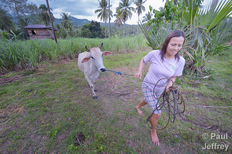 Eva Gantuangco is a survivor of human trafficking in Japan, where she worked as an entertainer. Here, outside Digos on the southern island of Mindanao in the Philippines, she works on a four hectare farm she bought with her earnings. Gantuangco, who testified against her traffickers, has been assisted by the Batis Center for Women.
