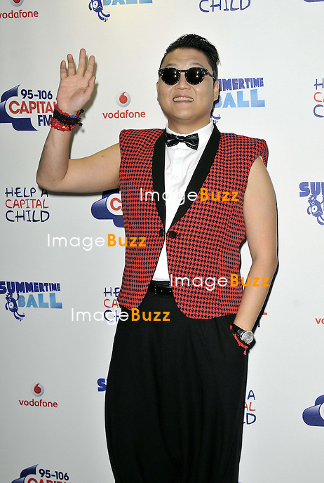 PSY at the 2013 Capital FM's Summertime Ball held at Wembley Stadium, London, on June 9, 2013.