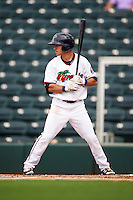Fort Myers Miracle second baseman Alex Perez (7) at bat during a game against the St. Lucie Mets on August 9, 2016 at Hammond Stadium in Fort Myers, Florida.  St. Lucie defeated Fort Myers 1-0.  (Mike Janes/Four Seam Images)