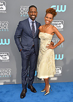 Sterling K. Brown &amp; Ryan Michelle Bathe at the 23rd Annual Critics' Choice Awards at Barker Hangar, Santa Monica, USA 11 Jan. 2018<br /> Picture: Paul Smith/Featureflash/SilverHub 0208 004 5359 sales@silverhubmedia.com