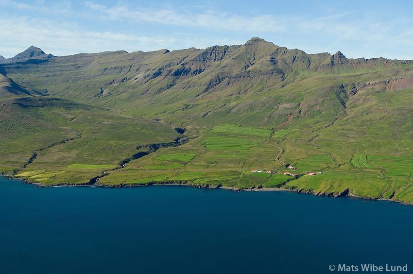 Brímnes séð til norðurs, Fjarðabyggð áður Fáskúðsfjarðarhreppur / Brimnes viewing north, Fjardabyggd former Faskrudsfjardarhreppur.