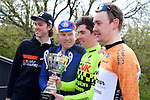 Pix: Shaun Flannery/shaunflanneryphotography.com<br /> <br /> COPYRIGHT PICTURE&gt;&gt;SHAUN FLANNERY&gt;01302-570814&gt;&gt;07778315553&gt;&gt;<br /> <br /> 17th April 2016<br /> The Danum Trophy Road Race 2016<br /> L-R Reece Wood, Velocity Globalbikes, Chris Parkinson, 1970 Winner, Michael Ashurst, Champion System VCUK Racing Team, Ross Lamb, Godfrey Bikewear Race Team.