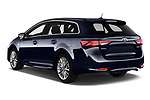 Car pictures of rear three quarter view of a 2017 Toyota Avensis TS Premium 5 Door Wagon angular rear